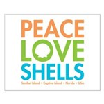 Peace-Love-Shells Small Poster