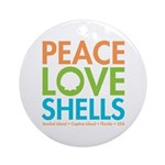 Peace-Love-Shells Ornament (Round)