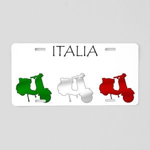 Italian Scooters Aluminum License Plate