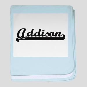 Addison Classic Retro Name Design baby blanket
