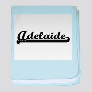Adelaide Classic Retro Name Design baby blanket