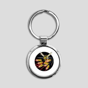 Killer Bee Round Keychain