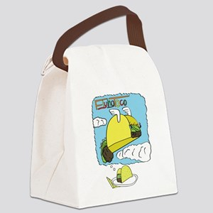 Flying Taco Dreams - Large Canvas Lunch Bag