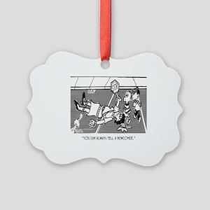 Crossing Guard Cartoon 2163 Picture Ornament