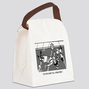 Crossing Guard Cartoon 2163 Canvas Lunch Bag
