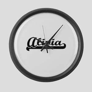 Alivia Classic Retro Name Design Large Wall Clock