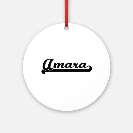 Amara Classic Retro Name Design Ornament (Round)