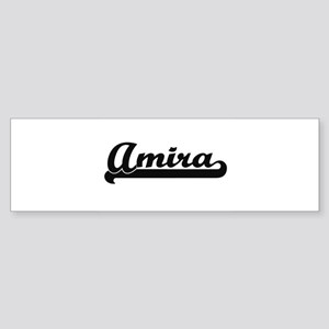 Amira Classic Retro Name Design Bumper Sticker