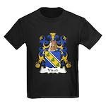 Viaud Family Crest Kids Dark T-Shirt