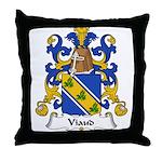 Viaud Family Crest Throw Pillow