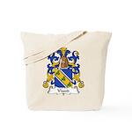 Viaud Family Crest Tote Bag
