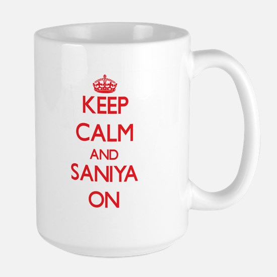 Keep Calm and Saniya ON Mugs