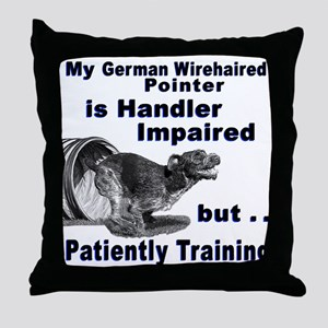 German Wirehd Pointer Agil Throw Pillow