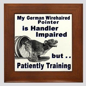 German Wirehd Pointer Agil Framed Tile