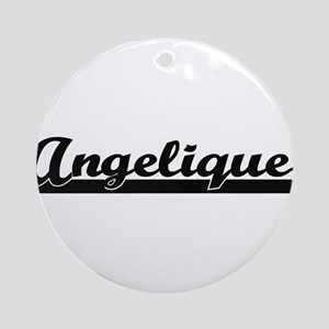Angelique Classic Retro Name Desi Ornament (Round)