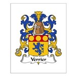 Verrier Family Crest  Small Poster