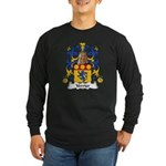 Verrier Family Crest Long Sleeve Dark T-Shirt
