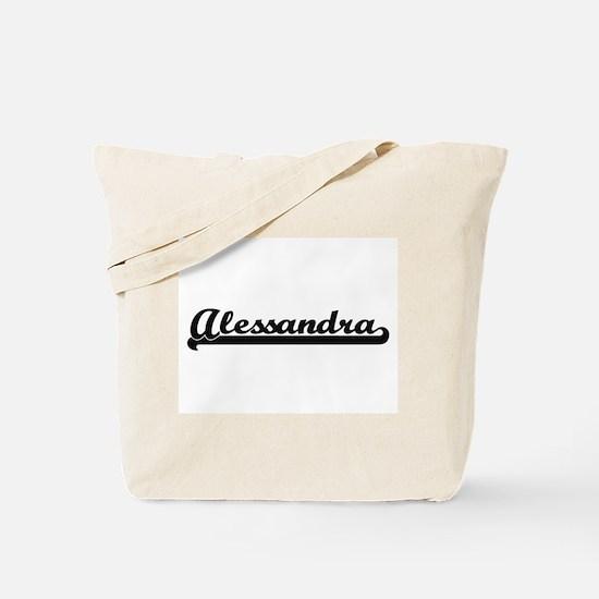 Alessandra Classic Retro Name Design Tote Bag