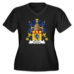 Verrier Family Crest  Women's Plus Size V-Neck Dar