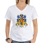 Verrier Family Crest  Women's V-Neck T-Shirt