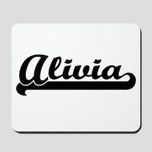 Alivia Classic Retro Name Design Mousepad