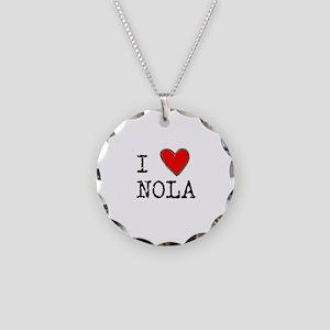 I Love NOLA Necklace Circle Charm