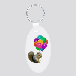 squirrel Aluminum Oval Keychain