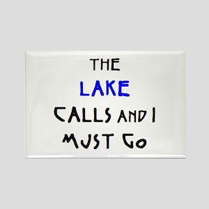 lake calls Rectangle Magnet