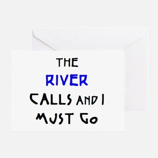 river calls Greeting Card