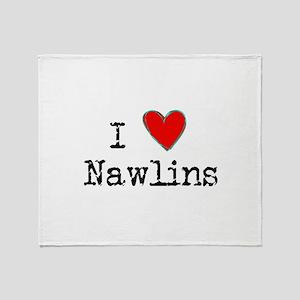 I Love NAWLINS Throw Blanket
