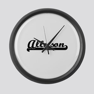 Allyson Classic Retro Name Design Large Wall Clock
