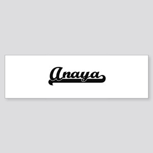 Anaya Classic Retro Name Design Bumper Sticker