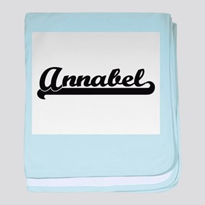 Annabel Classic Retro Name Design baby blanket