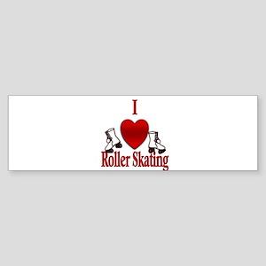 I Heart Roller Skating Bumper Sticker