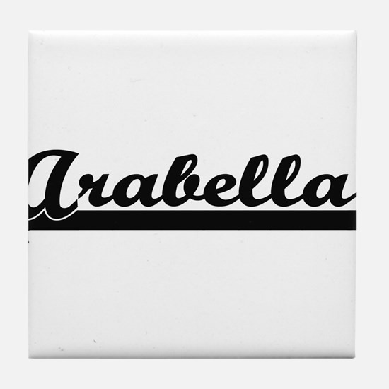 Arabella Classic Retro Name Design Tile Coaster