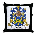 Vallet Family Crest Throw Pillow