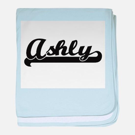 Ashly Classic Retro Name Design baby blanket