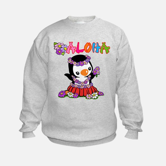 Aloha Penguin (6) Sweatshirt