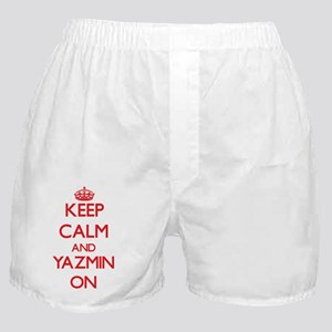 Keep Calm and Yazmin ON Boxer Shorts