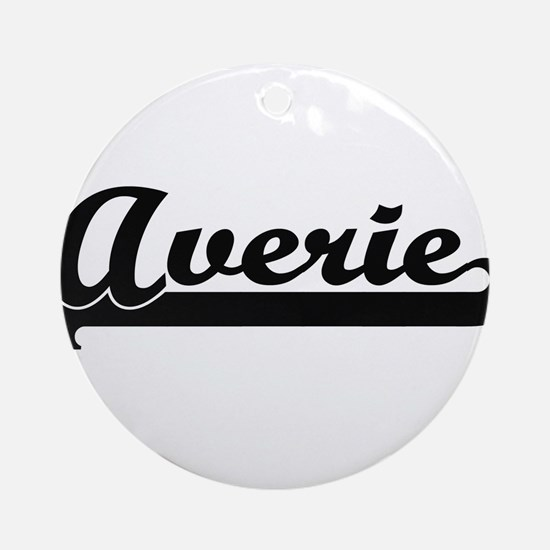 Averie Classic Retro Name Design Ornament (Round)
