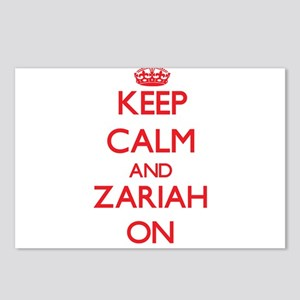 Keep Calm and Zariah ON Postcards (Package of 8)