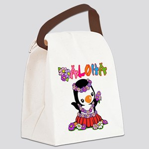 Aloha Penguin (6) Canvas Lunch Bag