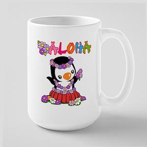 Aloha Penguin (6) Large Mug