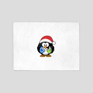 Penguin-Cartoon 018 5'x7'Area Rug