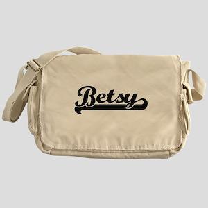 Betsy Classic Retro Name Design Messenger Bag