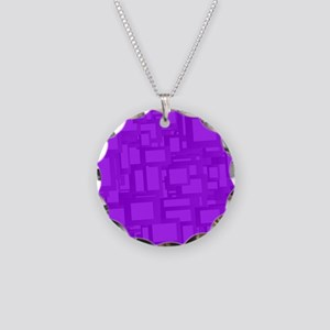 Moody Purple Abstract Art Necklace