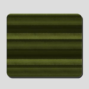 Elegant Olive Green Stripes Mousepad