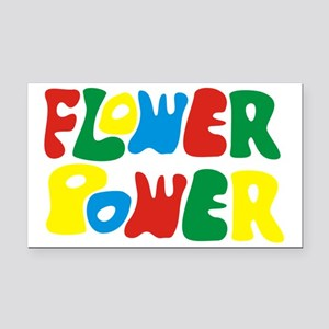 flowerPower Rectangle Car Magnet