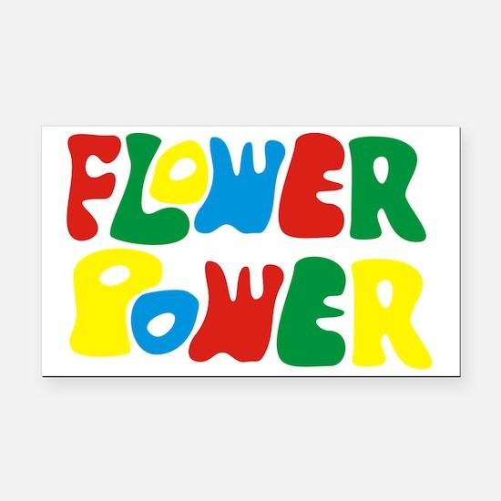flowerPower Rectangle Car Magnet
