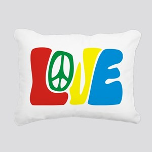 lovePeace Rectangular Canvas Pillow